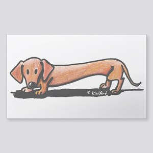 Lil' Red Dachsie Sticker (Rectangle 50 pk)