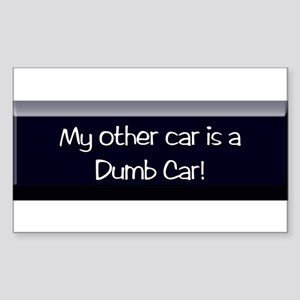 dumb car Rectangle Sticker 50 pk)