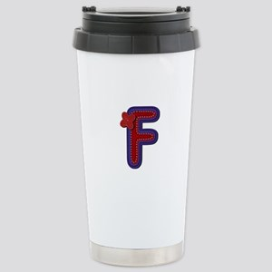 F Red Caps Stainless Steel Travel Mug