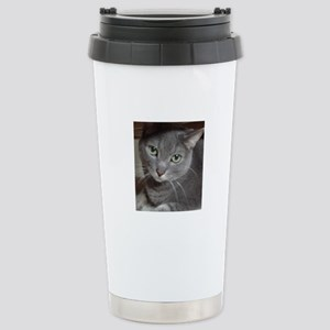 Russian Blue Cat Stainless Steel Travel Mug