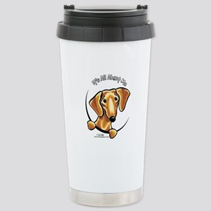 Red Dachshund IAAM Stainless Steel Travel Mug