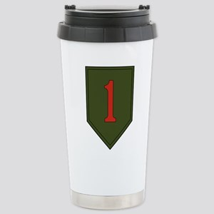 1st Infantry Division Stainless Steel Travel Mug