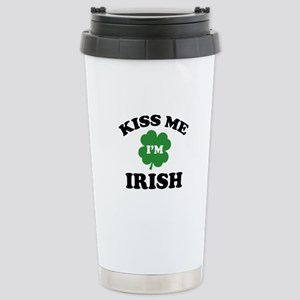 Kiss Me I'm Irish Stainless Steel Travel Mug