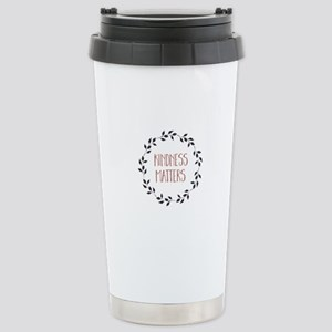 Kindness Matters 16 oz Stainless Steel Travel Mug