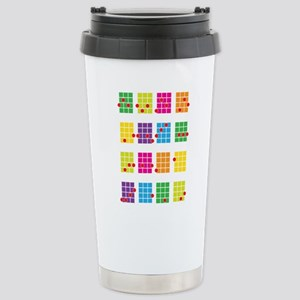 Uke Chords Colourful Stainless Steel Travel Mug
