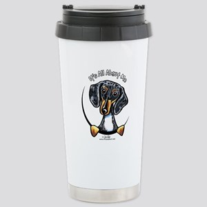 Dapple Dachshund IAAM Stainless Steel Travel Mug