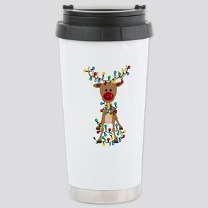Adorable Christmas Rein Stainless Steel Travel Mug