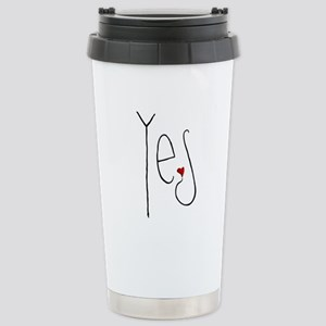 Yes Heart Stainless Steel Travel Mug
