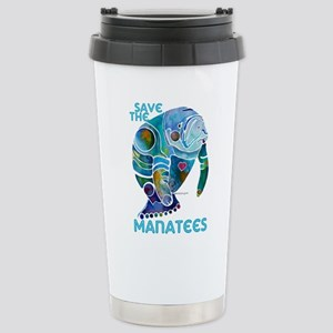 Save the Manatees Stainless Steel Travel Mug