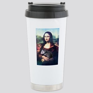 Mona Lisa Possum Stainless Steel Travel Mug