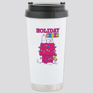 Snoopy Holiday Ch 16 oz Stainless Steel Travel Mug