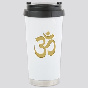 Om, Gold Stainless Steel Travel Mug