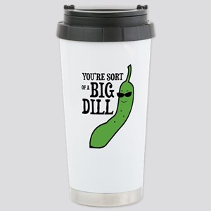 Big Dill Pickle Stainless Steel Travel Mug