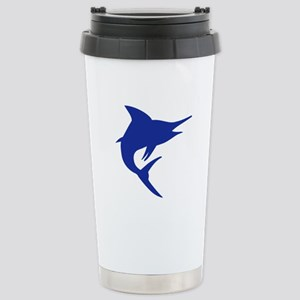 Blue Marlin Fish Stainless Steel Travel Mug