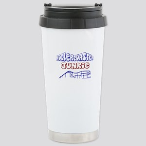 Roller Coaster Junkie Stainless Steel Travel Mug