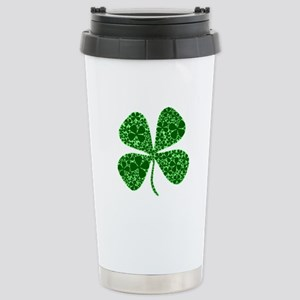 Lucky 4 Leaf Clover Irish Stainless Steel Travel M