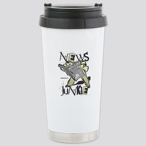News Junkie Stainless Steel Travel Mug