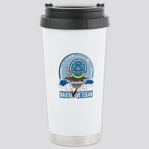 CVN-69 USS Eisenhower Stainless Steel Travel Mug