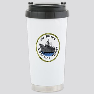 USS Fulton (AS 11) Stainless Steel Travel Mug