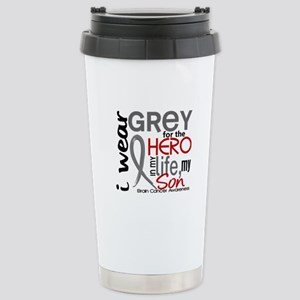 Hero in Life 2 Brain Cancer Stainless Steel Travel