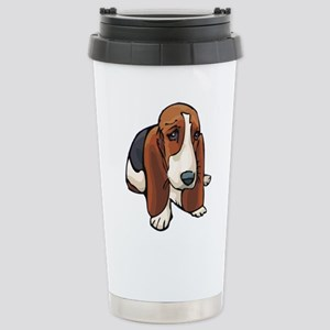 Sad Eyed Basset Hound P Stainless Steel Travel Mug