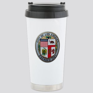 "2.5"" City of LA Seal on Stainless Steel Trave"