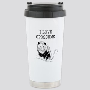 I Love Opossums Stainless Steel Travel Mug