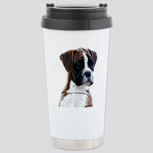 Brindle Boxer Puppy Stainless Steel Travel Mug