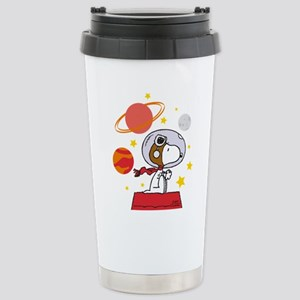 Space Snoopy 16 oz Stainless Steel Travel Mug