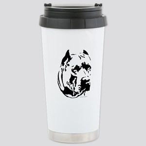 pit bull head design 1 Stainless Steel Travel Mug