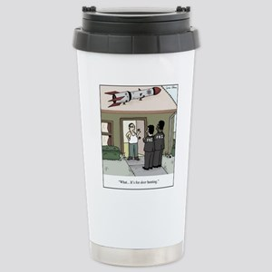 Missile on Roof G 16 oz Stainless Steel Travel Mug