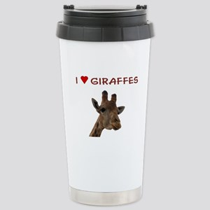 I Heart Giraffes Stainless Steel Travel Mug
