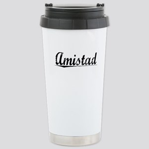 Amistad, Vintage Stainless Steel Travel Mug