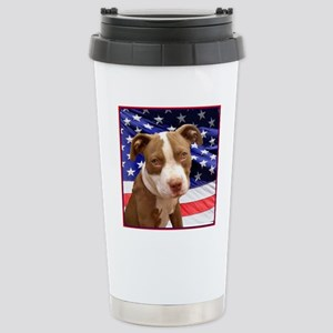 American pitbull puppy Stainless Steel Travel Mug