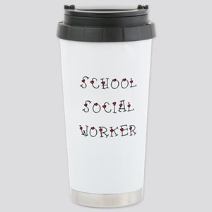 School SW Hearts Stainless Steel Travel Mug