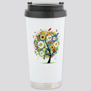 summer tree Stainless Steel Travel Mug