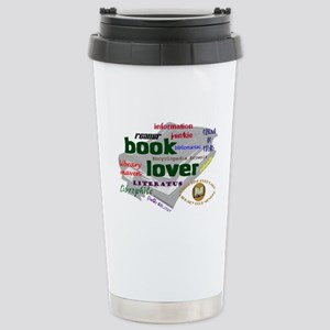 Book Lover Stainless Steel Travel Mug