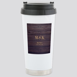 Rustic Barn Wood Person Stainless Steel Travel Mug
