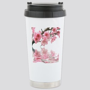 Flowers Water Reflection Stainless Steel Travel Mu