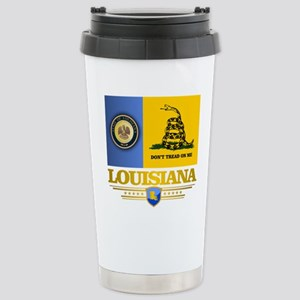 Louisiana Gadsden Flag Stainless Steel Travel Mug