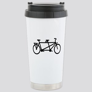 Tandem Bicycle Stainless Steel Travel Mug