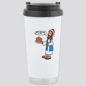 Happy Birthday Jesus Ch Stainless Steel Travel Mug