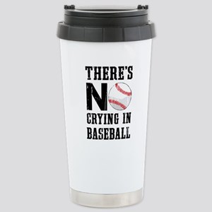 No Crying In Baseball Stainless Steel Travel Mug