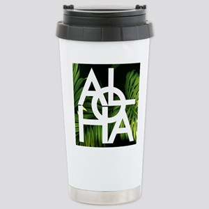 Aloha Whitre Graphic Pa Stainless Steel Travel Mug