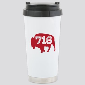 716 Buffalo Area Code Stainless Steel Travel Mug
