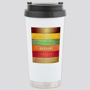 Personalized Colorful W Stainless Steel Travel Mug