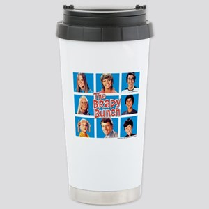 The Brady Bunch Grid Stainless Steel Travel Mug