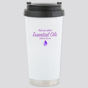Ask Me About Essential Oils Travel Mug