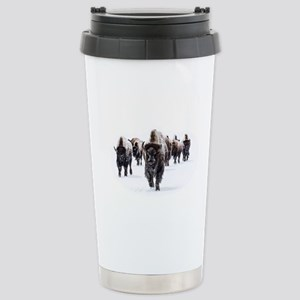 Buffalo 16 oz Stainless Steel Travel Mug