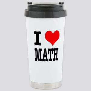 I Heart (Love) Math Stainless Steel Travel Mug